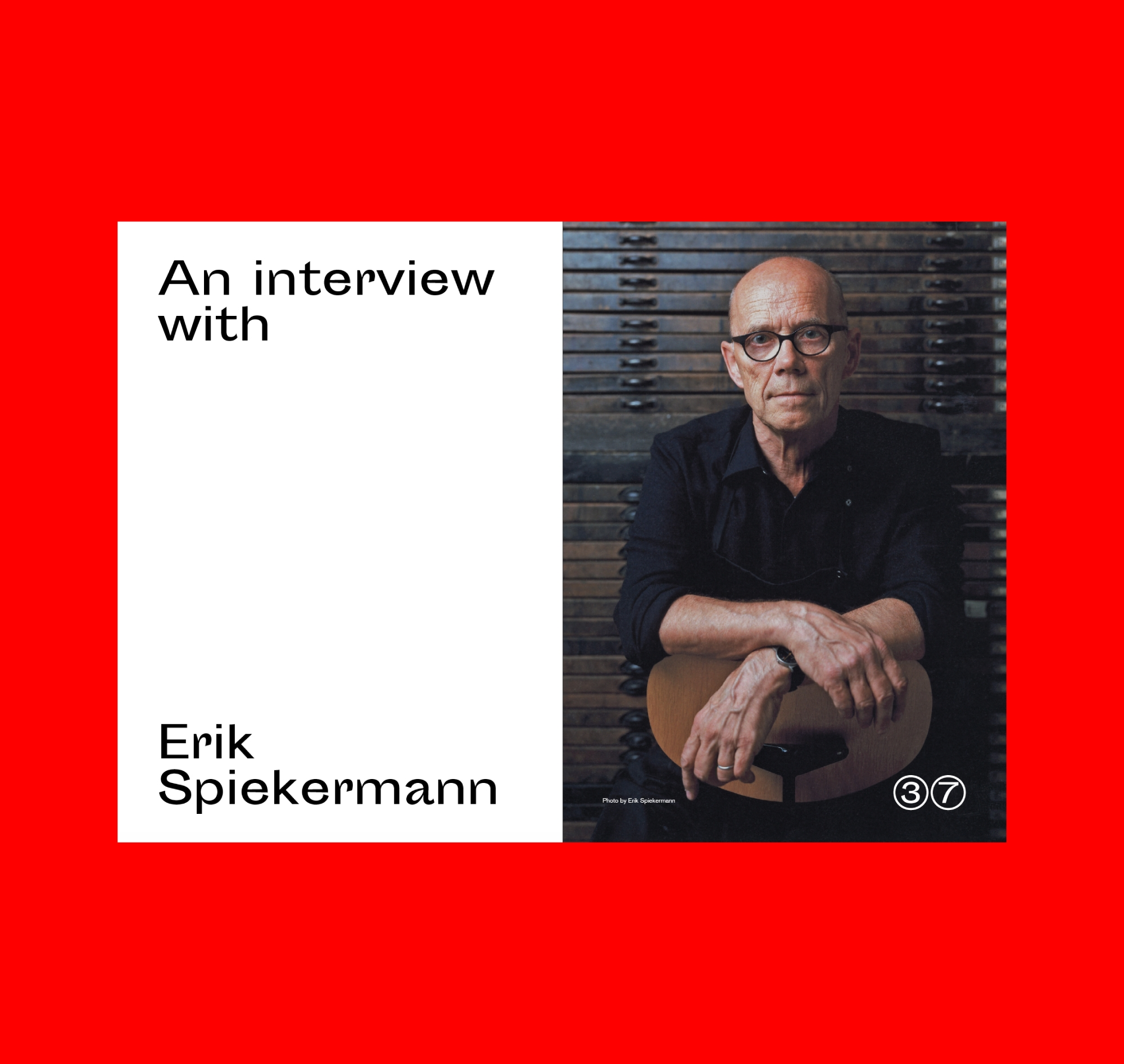 Erik Spiekermann Edenspiekermann Printed Words Magazine Graphic Design Colophony Foundry Typography Anthony Sheret Sporting Grotesque