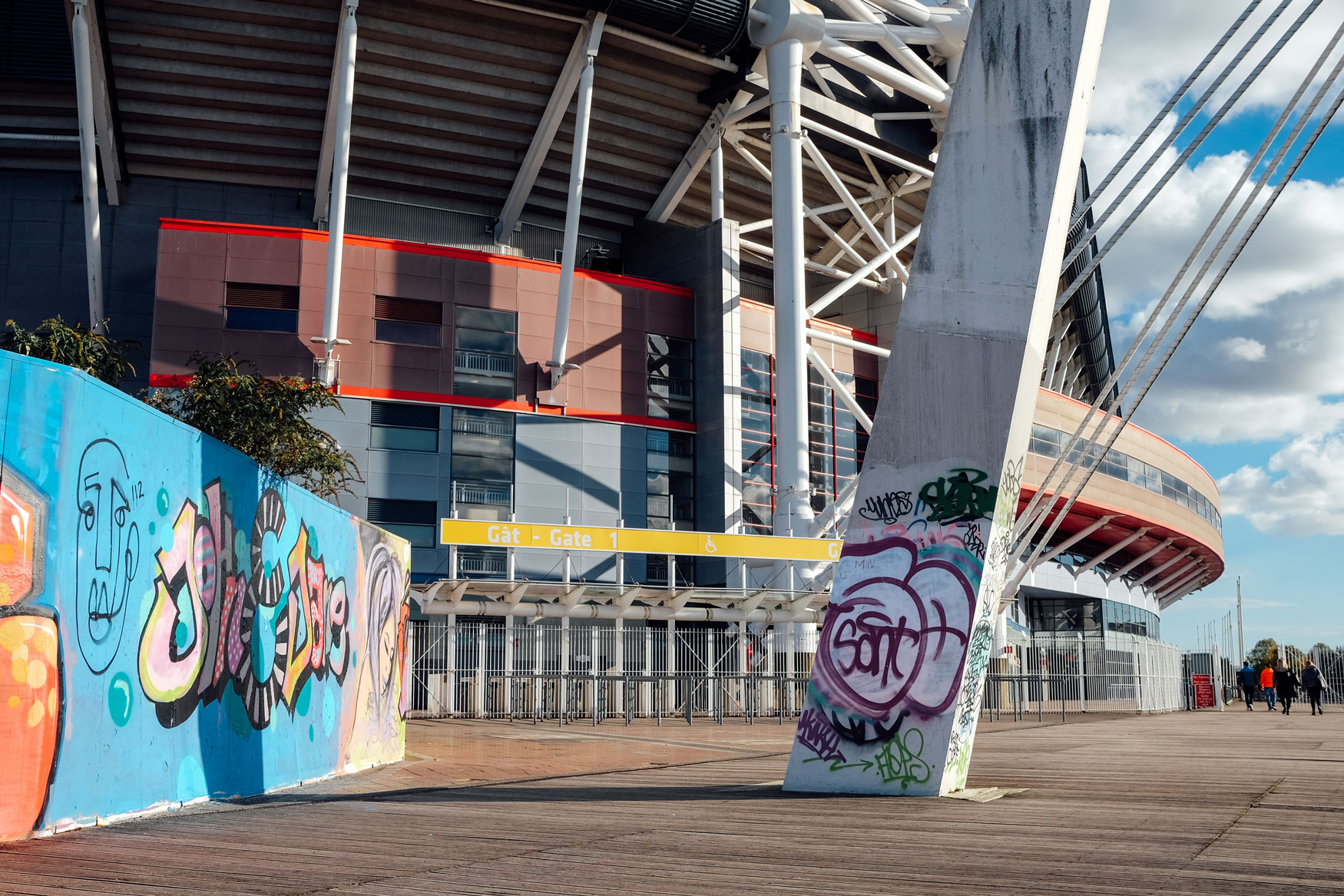 João​ Pequito pluzbrut graffiti creative branding brand graphic design marketing colour cardiff principality stadium millennium callum richards sarah burley gareth strange