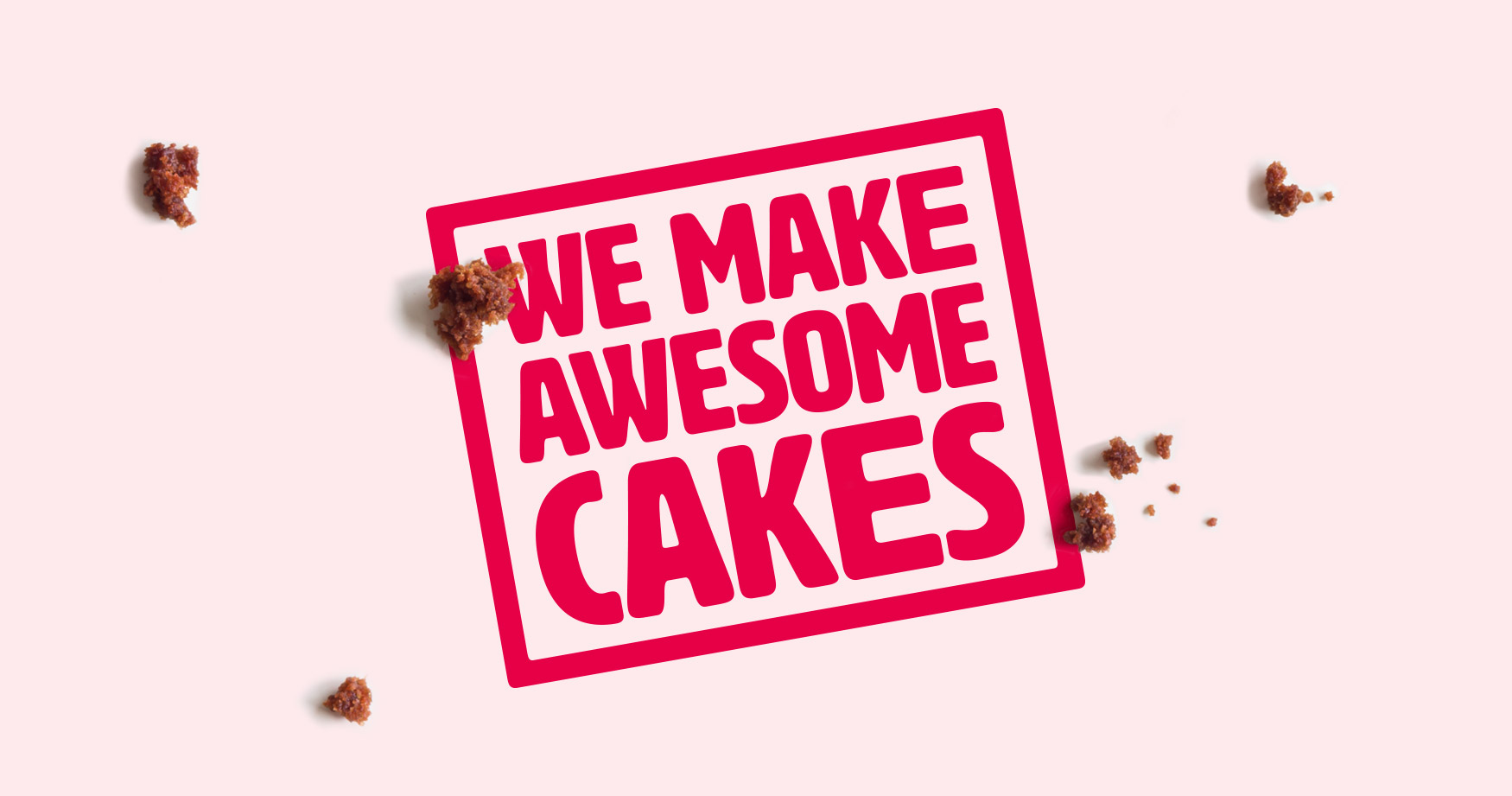 we make awesome cakes brand logo graphic design branding cardiff cake marketing campaign type typography