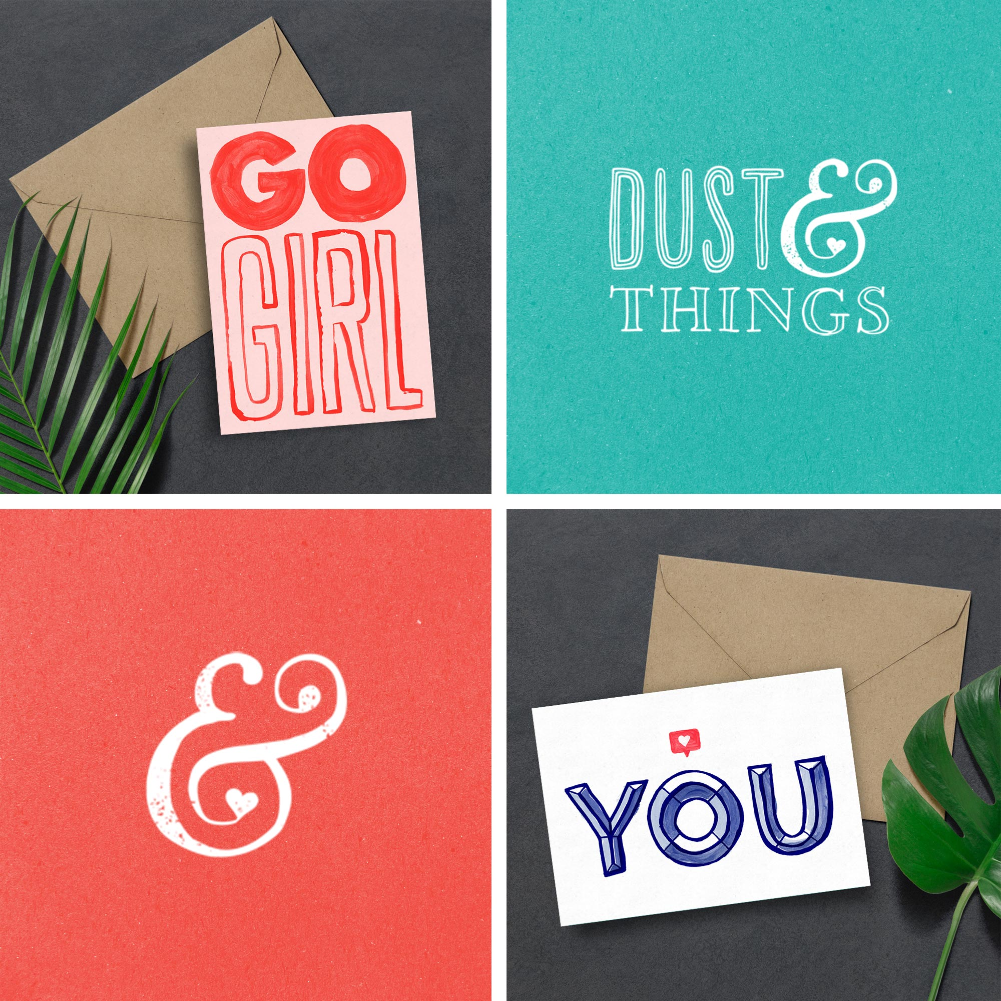 dust and things illustration graphic design greeting cards branding brand business marketing