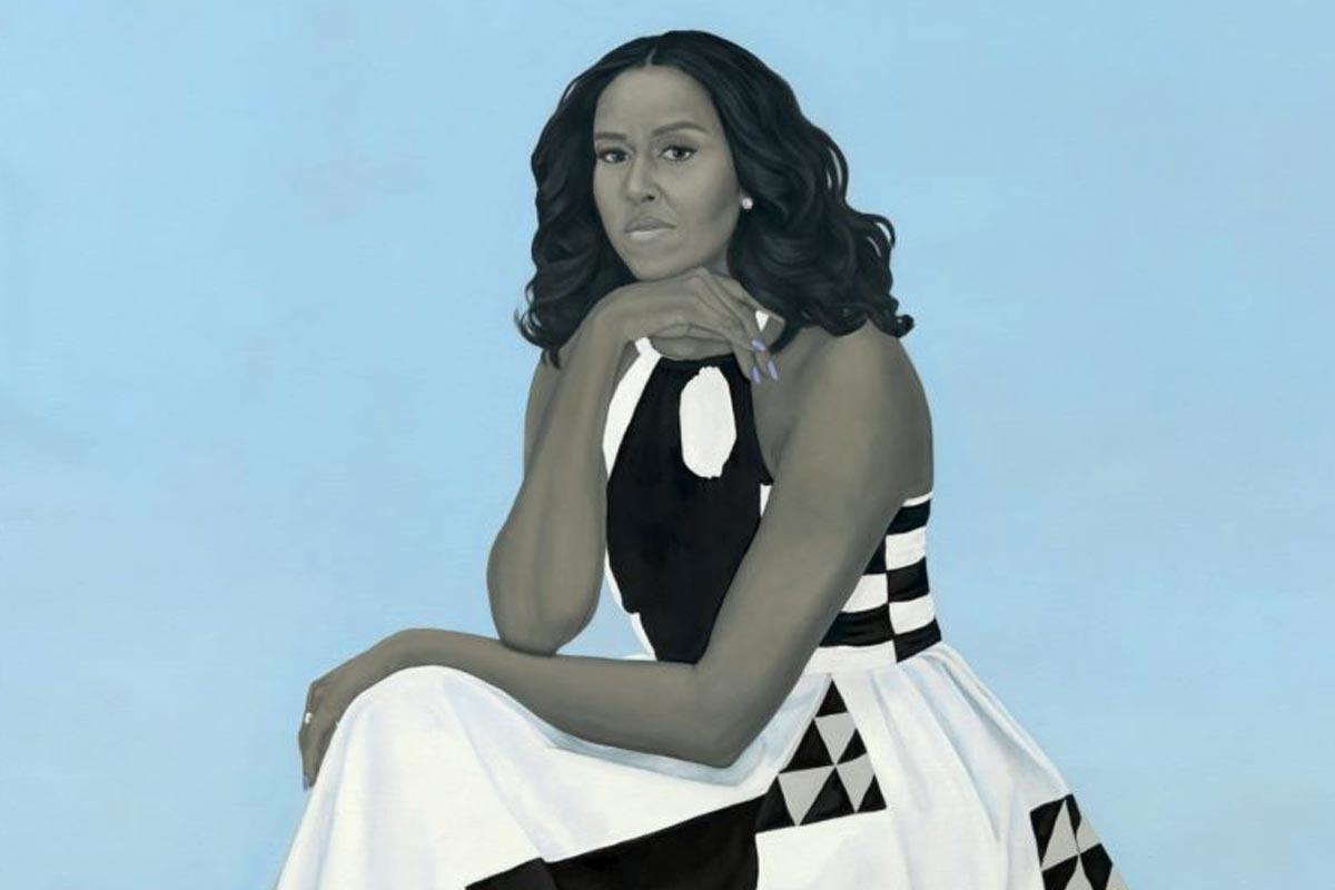 Michelle Obama Portrait Art
