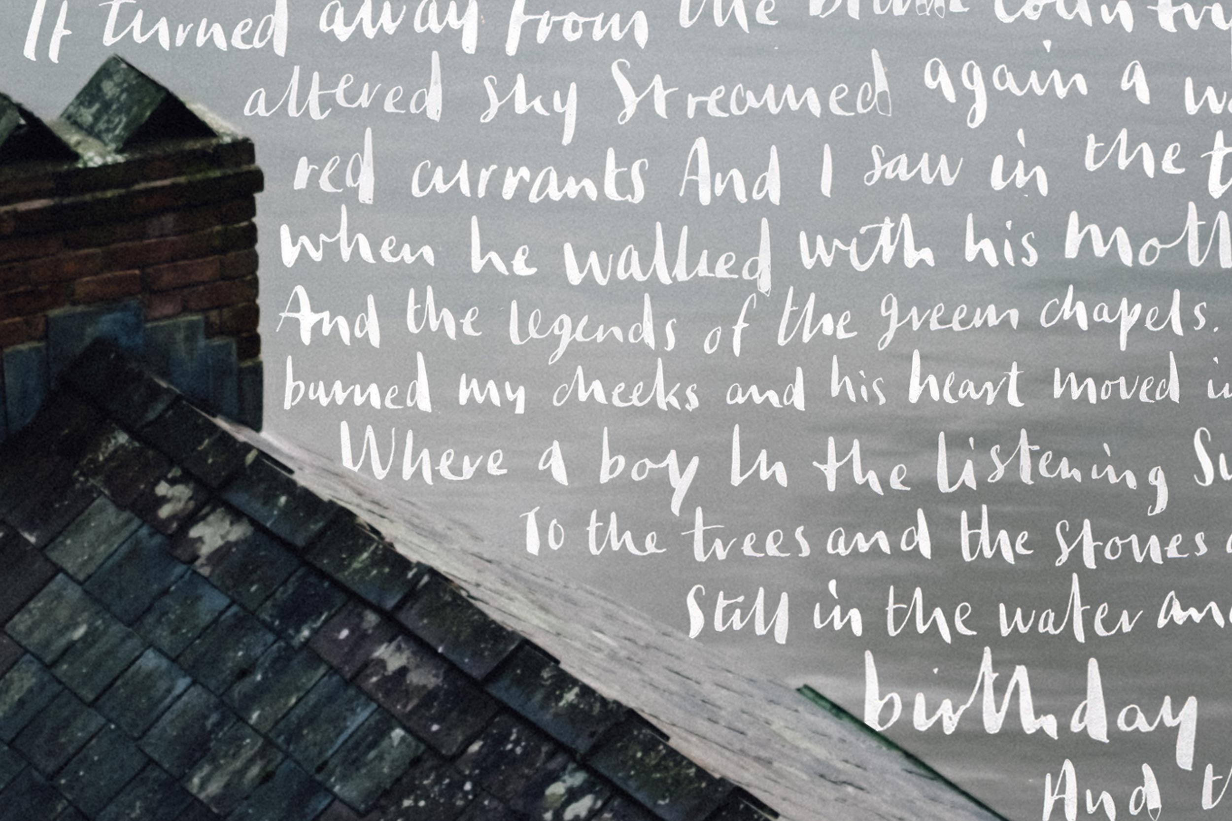 Dylan Thomas Calligraphy Typography Poem