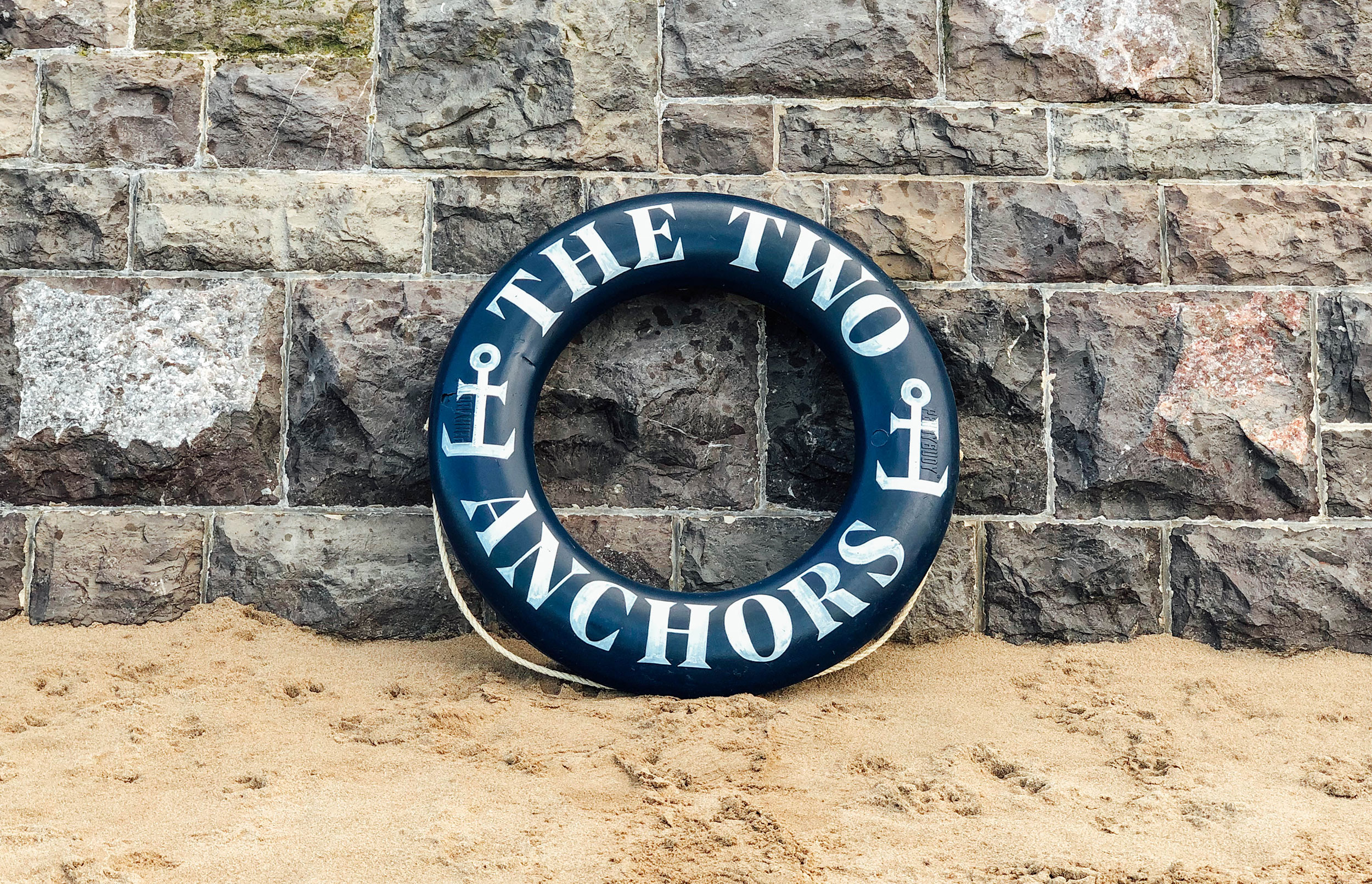 The Two Anchors Brand Branding Signage Seafood Fish Brand Graphic Design Photography Shellfish Logo Ogmore-by-Sea Wales Type Typography