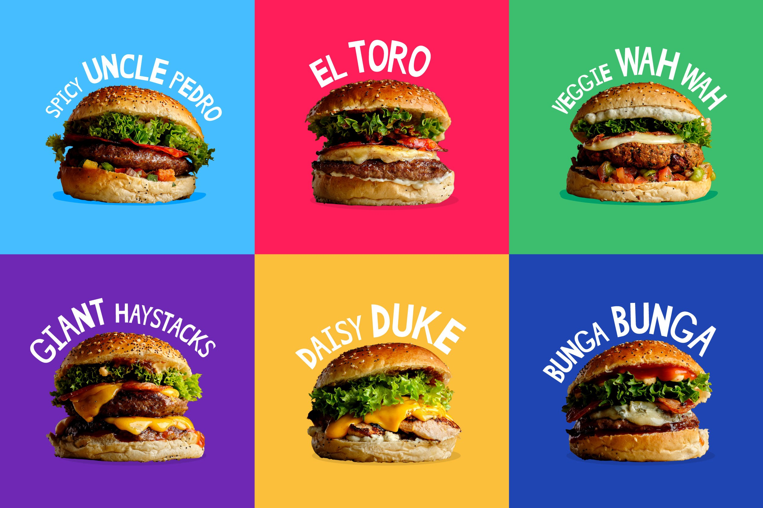 The Grazing Shed Super Tidy Burgers Branding Graphic Design
