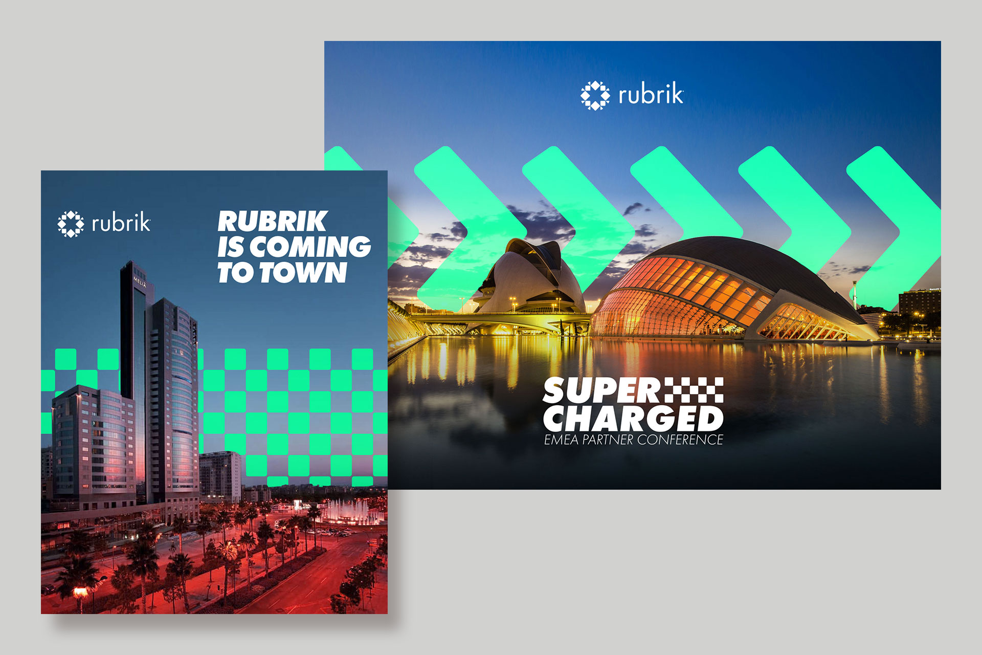 Rubrik Tech Start-up Cloud Graphic Design Branding Brand Illustration Valencia Logo Conference Marketing Strategy